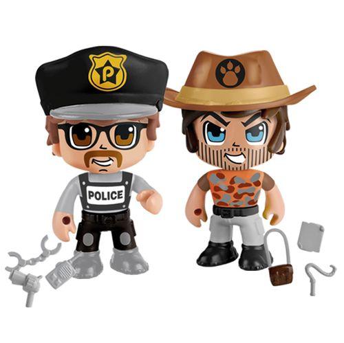 Pinypon Action Pack 2 Figuras Policía y Aventurero