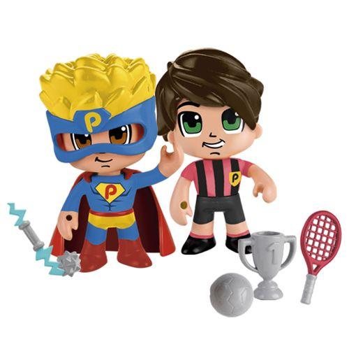 Pinypon Action Pack 2 Figuras Héroe y Futbolista