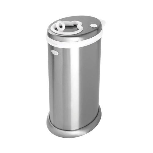 Contenedor de Pañales de Metal Plata