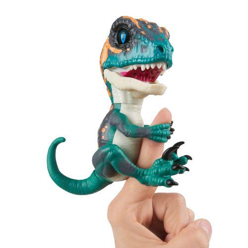 Fingerling Velociraptor Verde y Naranja