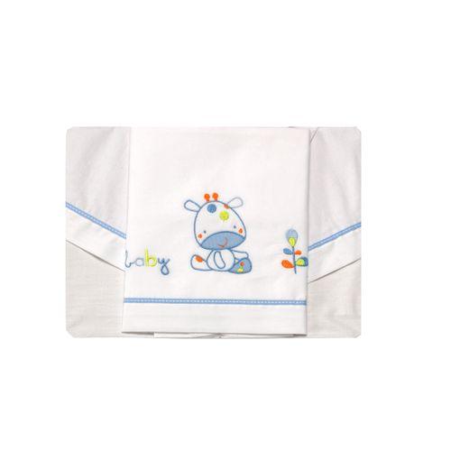 Tríptico sábanas 50x80 Jirafa Azul