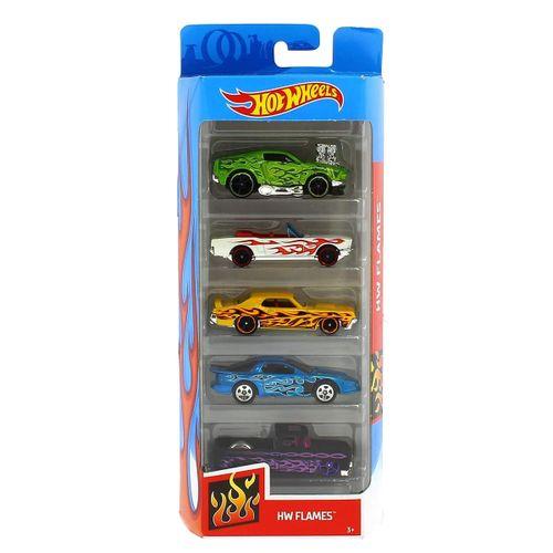 Hot Wheels Pack 5 Vehículos HW Flames 2