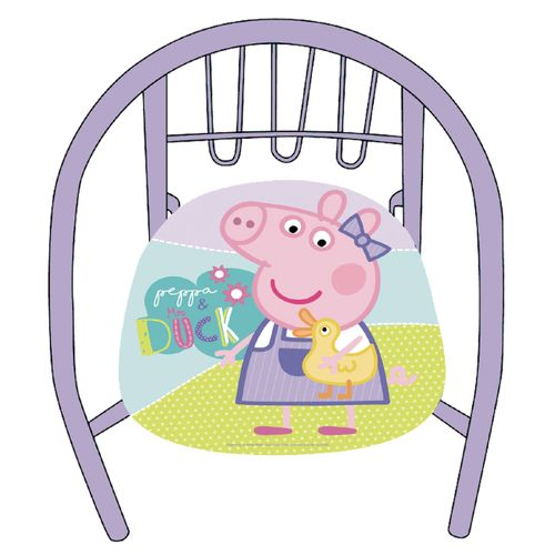 Peppa Pig Silla de Metal Infantil