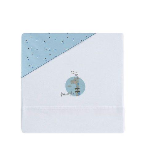 Tríptico sábanas 140x80  Jirafa Azul