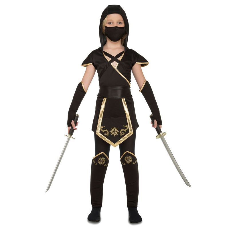 Disfraz-Ninja-Negro-Niña