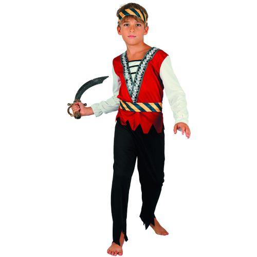 Disfraz Pirata Rojo Niño