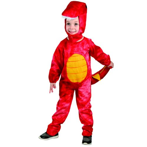 Disfraz Dinosaurio Rojo Infantil