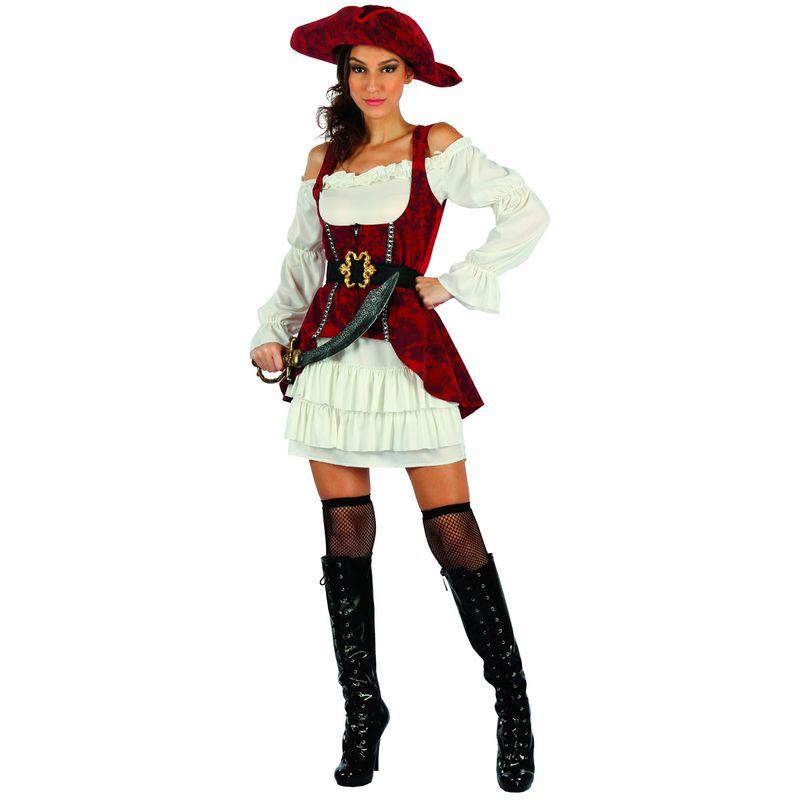 Disfraz-de-Pirata-Mujer-Rojo