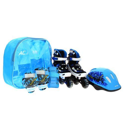 Pack Patines con Protecciones Azul
