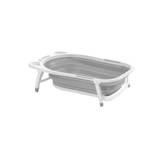 Bañera de Silicona Plegable Gris