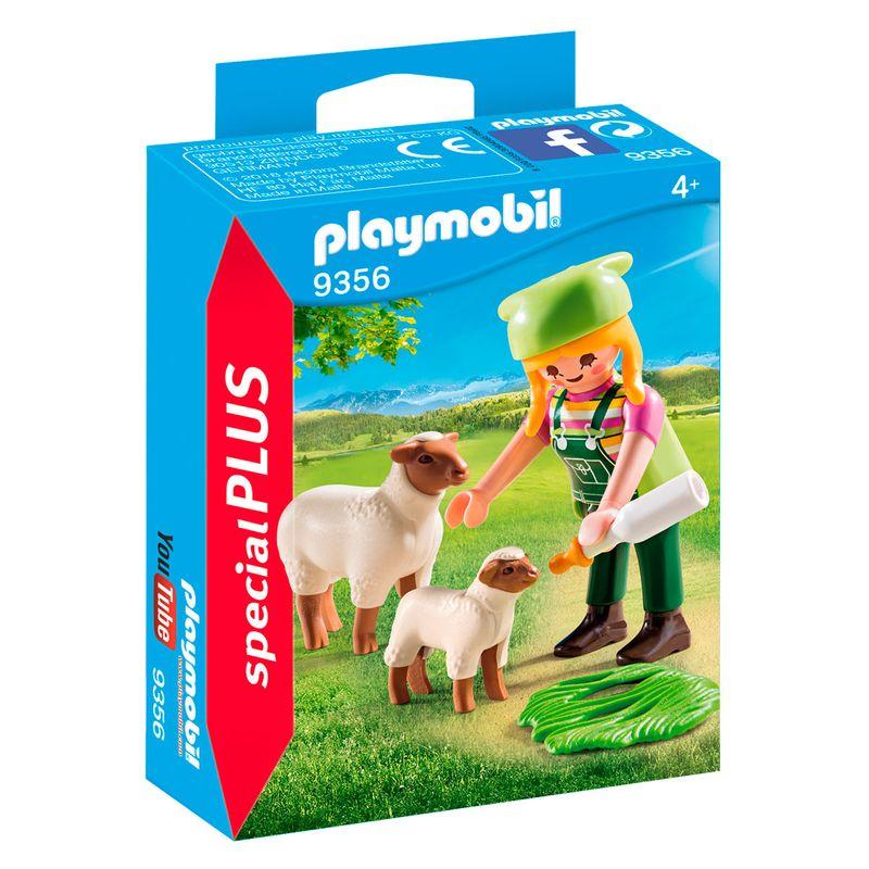 Playmobil-Special-Plus-Granjera-con-Oveja
