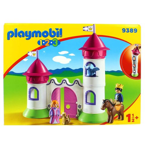 Playmobil 1.2.3 Castillo con Torre Apilable