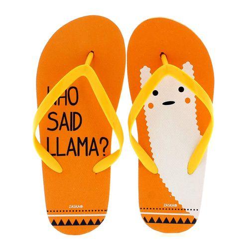 Chanclas Llama Naranjas
