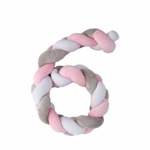 Trenza cuna Twist 200 cm Rosa