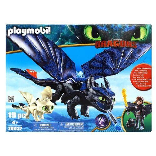 Playmobil Dragons 3 Hipo, Desdentao y Bebé Dragón