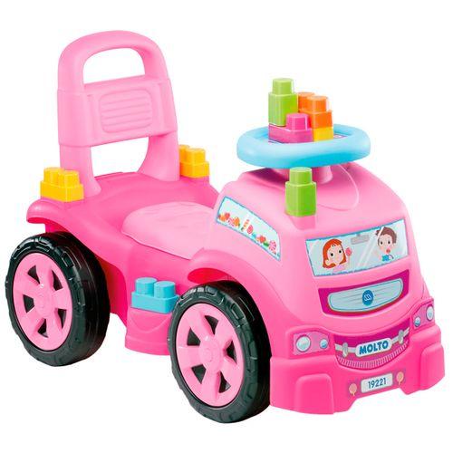 Camión Correpasillos 3 en 1 Rosa