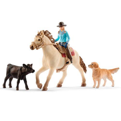 Figura Set Equitación del Lejano Oeste
