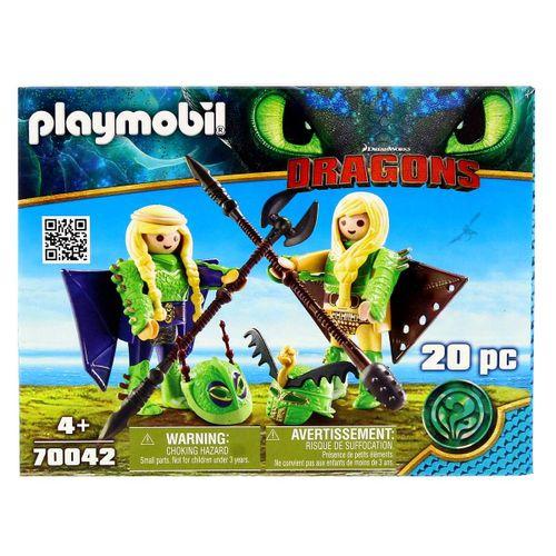 Playmobil Dragons Chusco, Brusca y traje volador