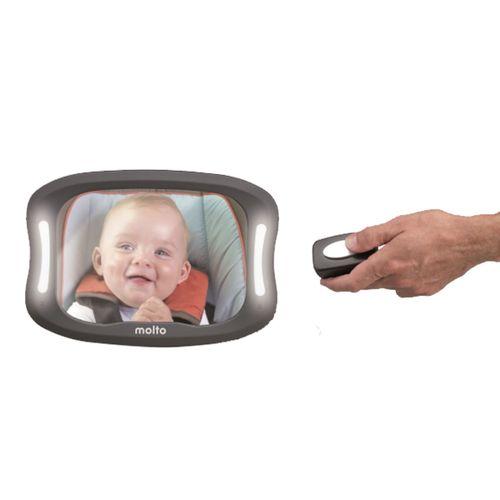 Espejo trasero Xl con luz y mando
