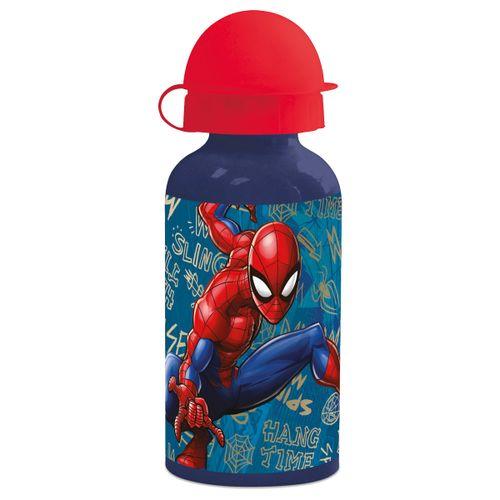 Botella Aluminio 400 Ml New Spiderman