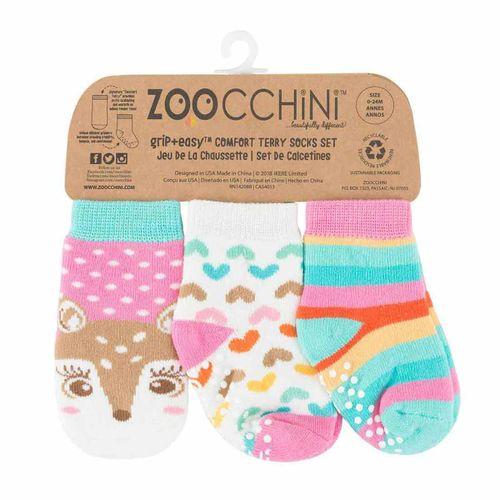 Pack 3 calcetines antideslizantes 0-24m cervatillo