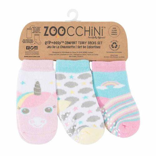 Pack 3 calcetines antideslizantes 0-24m Unicorn