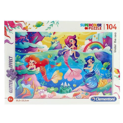 Puzzle Sirenas Glitter 104 Piezas