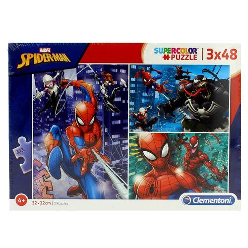Spiderman Puzzle 3x48 Piezas