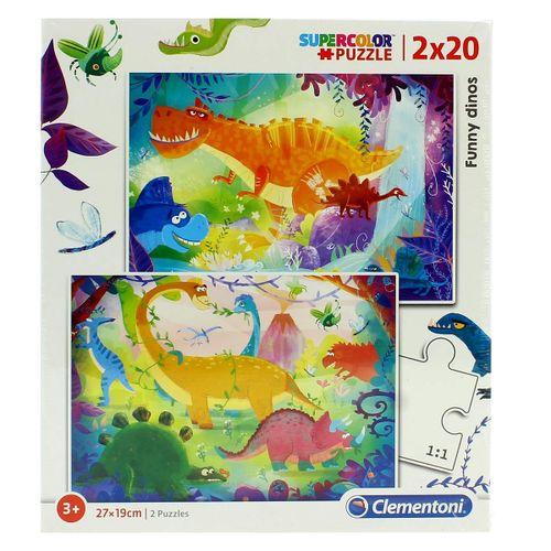 Puzzle Dinosaurios 2x20 Piezas