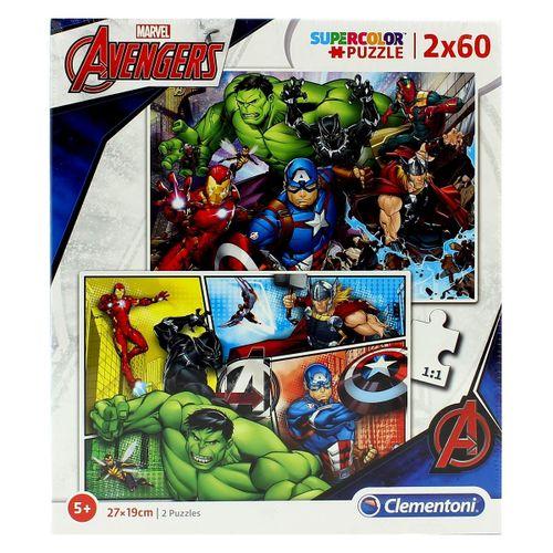 Los Vengadores Puzzle 2x60 Piezas