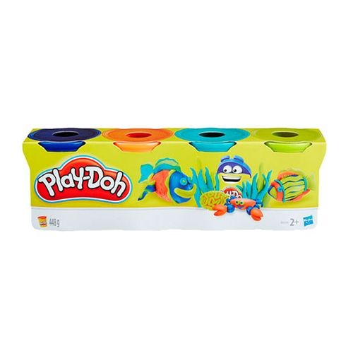 Play-Doh Pack 4 Botes de Plastilina Surtidos