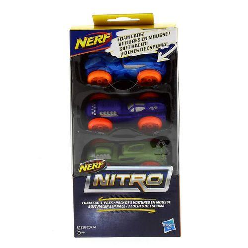Nerf Nitro 3 Coches Espuma Surtidos
