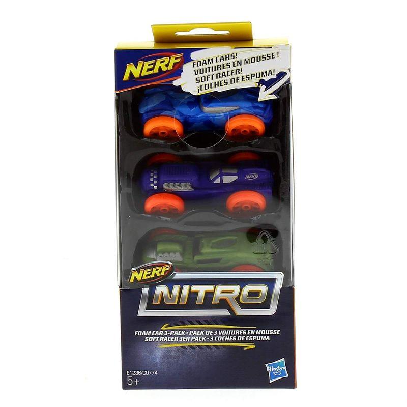Nerf-Nitro-3-Coches-Espuma-Surtidos