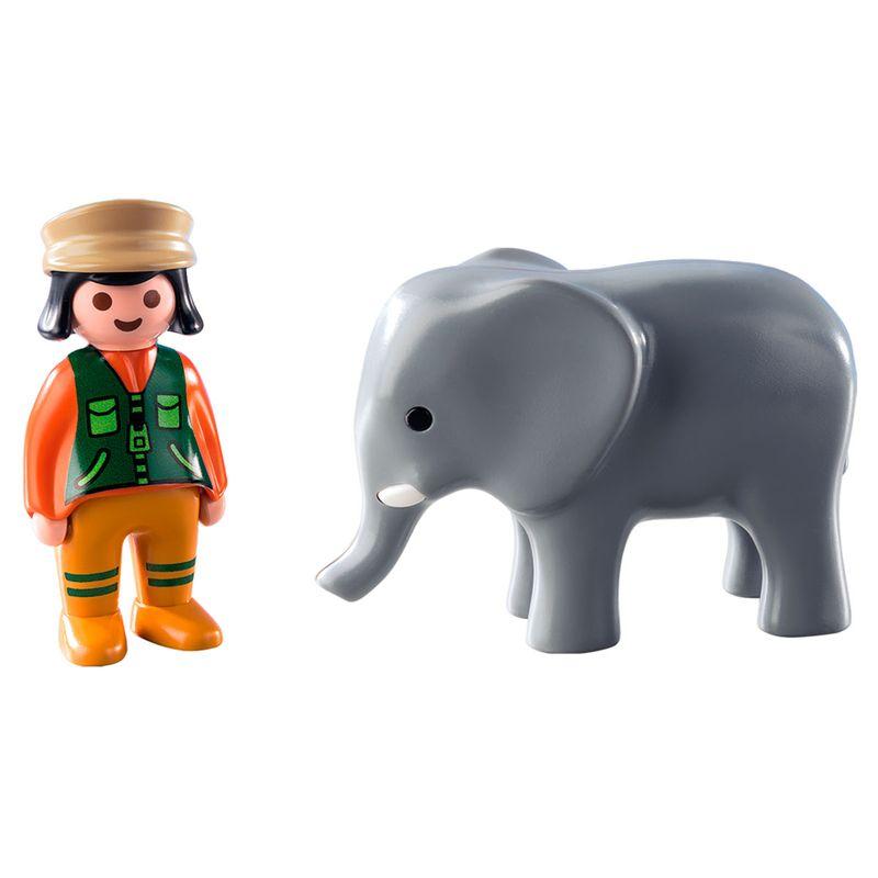 Playmobil-123-Cuidadora-con-Elefante_1