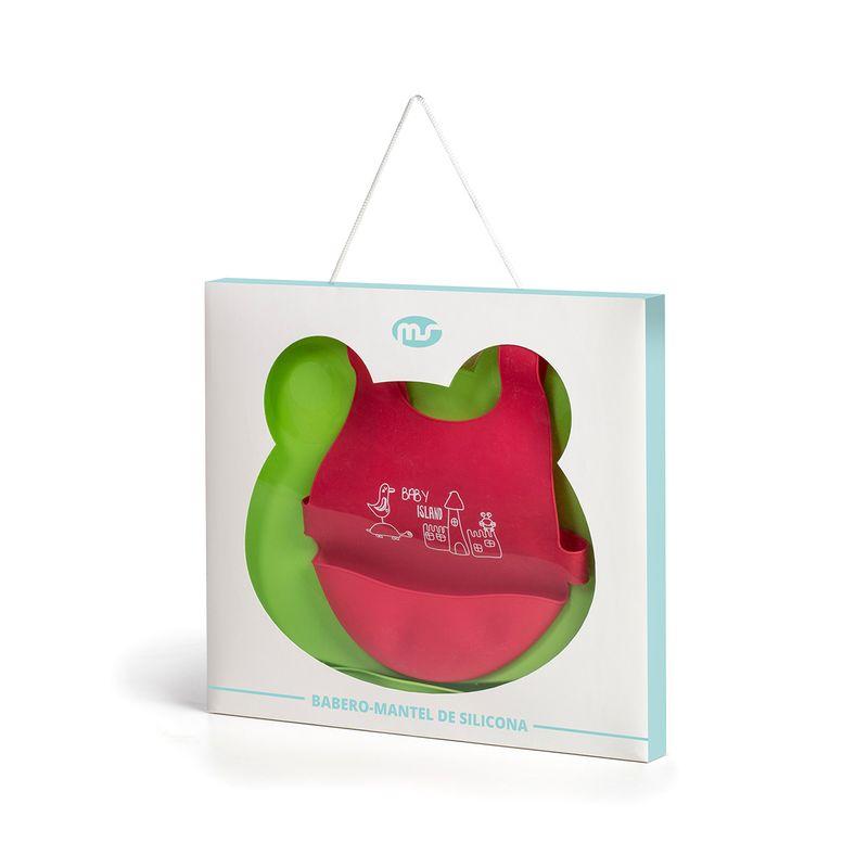 Babero-y-Mantel-de-silicona-Rojo-y-Verde_3