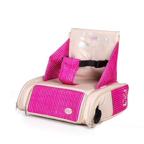 Trona de sobresilla Bag Beig/rosa