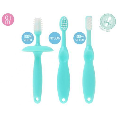 Set de cepillos de dientes para bebé azul