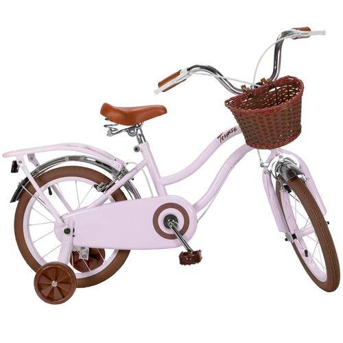 "Bicicleta Infantil Clásica Rosa 16"""