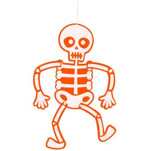 Esqueleto Móvil Fieltro Naranja