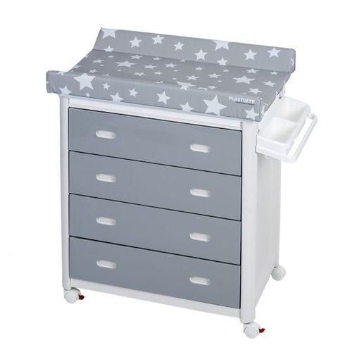 Mueble Bañera con Cajones Gris Estel Blanca