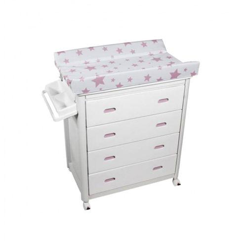 Mueble Bañera con Cajones Blancos Estrella Rosa