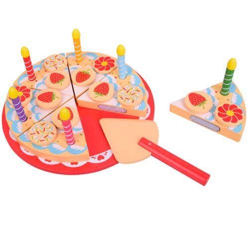 Pastel de Cumpleaños de Madera