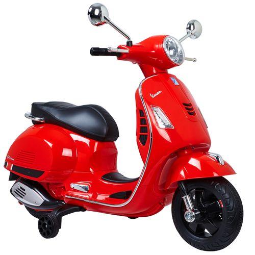 Moto Vespa Roja Batería
