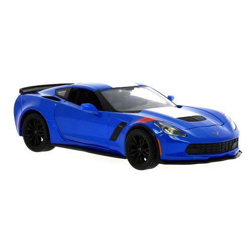 Coche Miniatura Corvette Azul a Escala 1:24