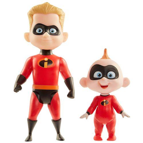 Los Increíbles Figuras Dash y Jack-Jack