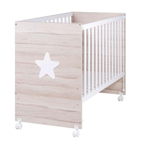 Cuna de madera Rustic Star estrella blanca 60*120