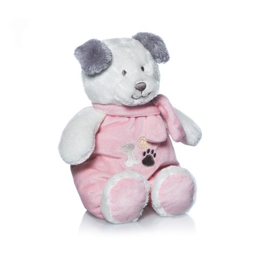 Peluche de perrito Tomy rosa