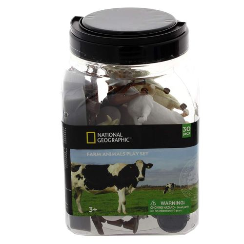 National Geographic Cubo Animales Granja 30 Pzs