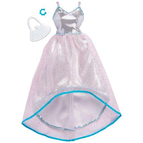Barbie Moda Vestido de Gala Plateado