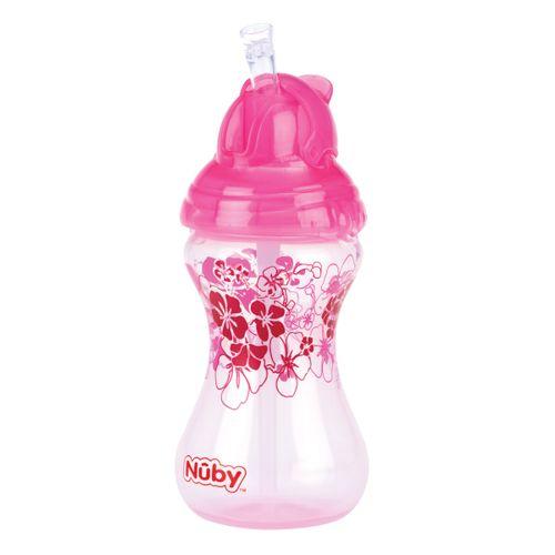 Taza con cañita 300 ml Rosa